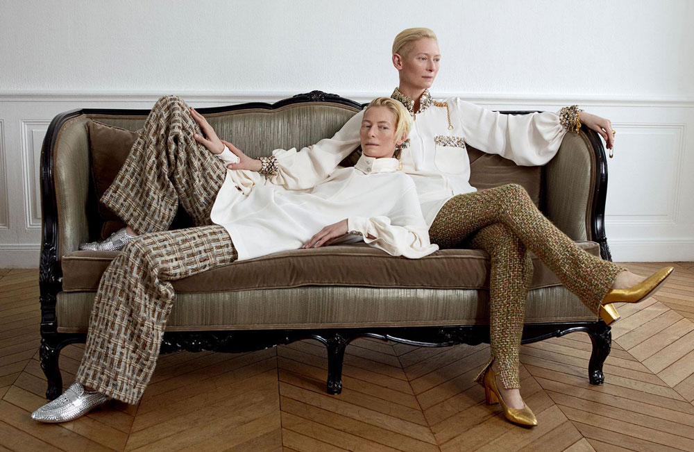 double tilda in madame figaro