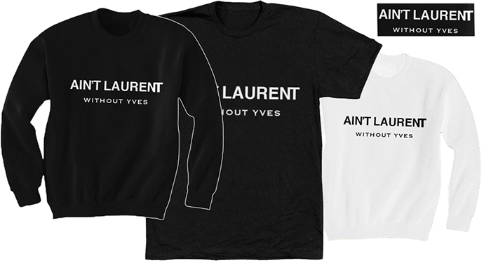 Реакции брендов на пародии: Saint Laurent vs Colette