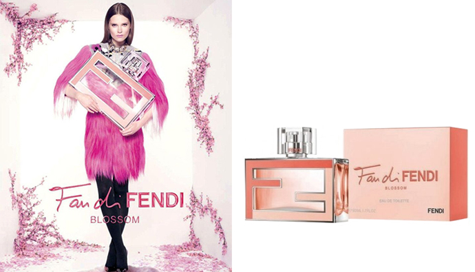 Рекламная кампания нового парфюма Fan di Fendi Blossom