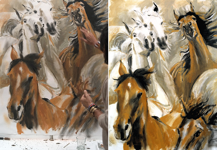 Wild Horses by Ronnie Wood