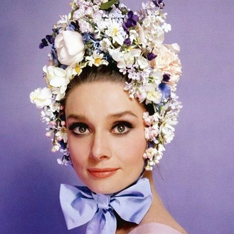 First Day of Spring Mood #audreyhepburn a flower a day keep the doctor away