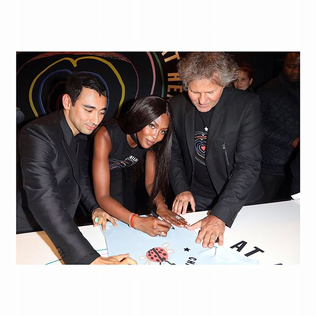 Last night in Paris, @IamNaomiCampbell, @NicolaFormichetti and @RenzoRosso celebrated @Diesel's collaboration with #FashionForRelief, launching the #ChildAtHeart collection.   @gettyimages  #Diesel #NaomiCampbell #RenzoRosso #NicolaFormichetti #KarlaOtto