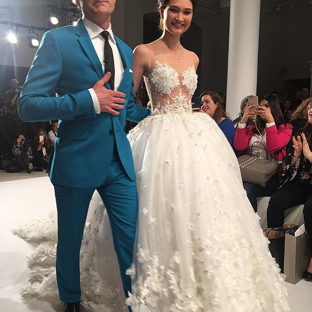 Say Yes to the Dress' Randy Fenoli just showed his first-ever bridal collection. #wwdfashion ( : @elmercer)