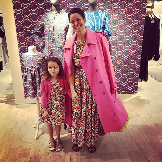 Think Pink, Ladies! (& little ones....) Ana & Tess in @ladoublej at @bergdorfs