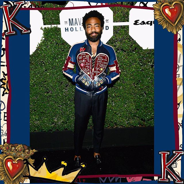 Donald Glover wore Dolce&Gabbana at the Esquire 'Mavericks of Hollywood' party on February 20th, 2018 in Los Angeles, California. #DGMen #DGCelebs