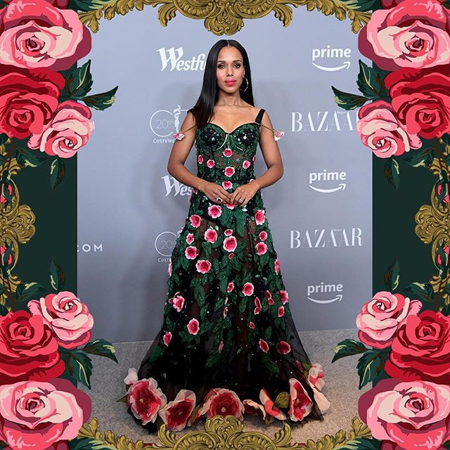 Kerry Washington wore Dolce&Gabbana at the Costume Designers Guild Awards on February 20th, 2018 in Beverly Hills, California. #DGCelebs #DGWomen