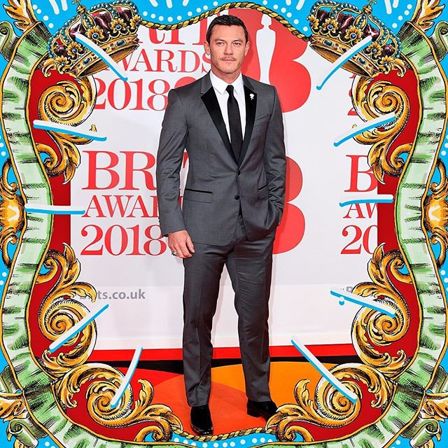 Luke Evans wore Dolce&Gabbana at the 2018 BRIT Awards, held at The O2 Arena on February 21st, 2018 in London. #DGMen #DGCelebs