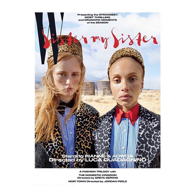 Luca Guadagnino, whose movie  Call Me By Your Name  is nominated for 4 Oscars, has photographed the cover and an inside fashion story of @WMag s new issue. Starring @AdwoaAboah and @RianneVanRompaey. #LucaGuadagnino #CallMeByYourName #Cinema #Art #Culture #KarlaOtto