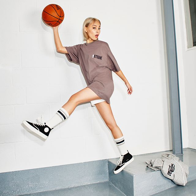 Catch the ball    @kitsune x @nba capsule collection including 15 unisex pieces, made in japan    #KitsunexNBA