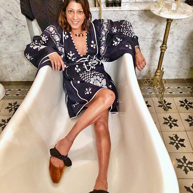 Instant Fashionista - just add water.    We're adoring all of the fabulous @coquicoquiofficial interiors posted by @gogoluxe  #vitakin  #originalvitakin  #embroidereddresses