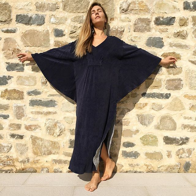 Chilling at the office in a terry-cloth kaftan as one does OR the joys of living in #varesetheplacetobe  #SplendidXMargherita