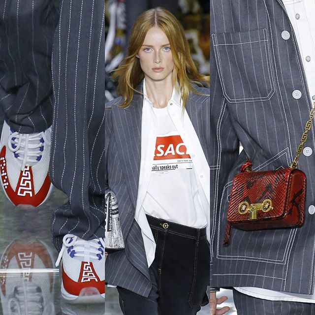 My @versace faves: love the cute bags, the mäander sneakers, ghetto pinstripes and of course the red