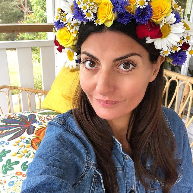 This is not a Snapchat filter .. Happy midsummer        Very proud of my DIY flowers crown
