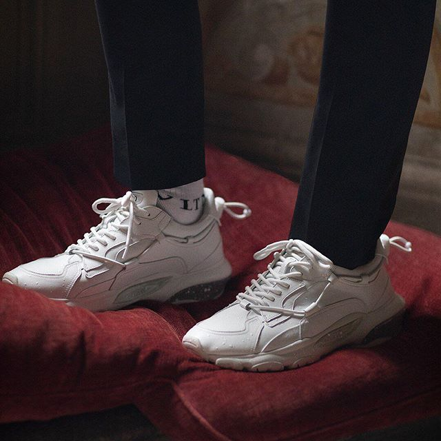 Delivering your next sneaker obsession, the Valentino Garavani #Bounce. Browse the whole sneaker collection on Valentino.com #HautePunk