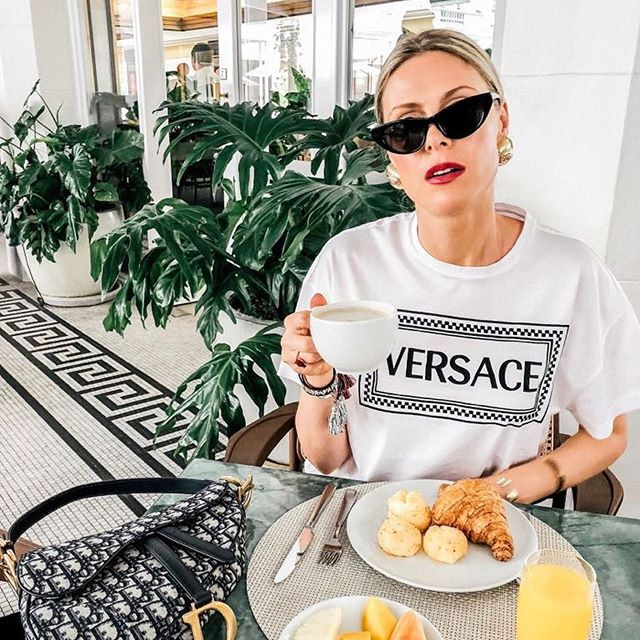 How we do breakfast in Rio: fluffy pao de queijo on my plate   bling sea shells in my ears   & spicy red on my lips    Who's ready for today?? @belmondcopacabanapalace #riodejaneiro #breakfastlover #theartofbelmond