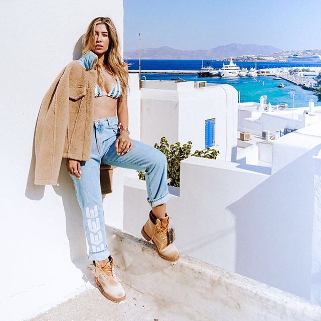 @michellesalasb in pre-fall women s Off-White   SWIM  capsule collection exclusive to @off___white___mykonos