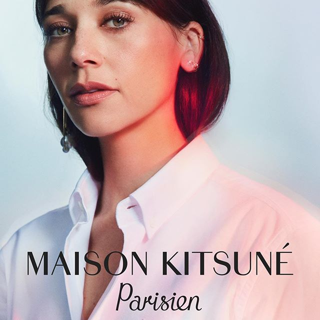 @rashidajones perfectly embodies the spirit of our Parisian-inspired collection:   The Maison Kitsune  woman never seems like she is trying too hard. She is confident with a casual attitude and subtle but undeniable charm, has good taste and a playful sense of humor...   Gildas & Masaya    Photographed by @benjaminlennox #MaisonKitsuneParisien #RashidaisParisienne