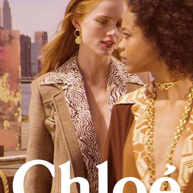 POSTER FOR @chloe FW18/19 CAMPAIGN By #STEVENMEISEL #MMPARIS STARRING @riannevanrompaey @hunkybunky_  #CHLOENRL