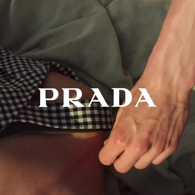 I ll be here, exactly as you left me. Full video and new collection via link in bio. #PradaPreFall18 #PradaSummerIllusions