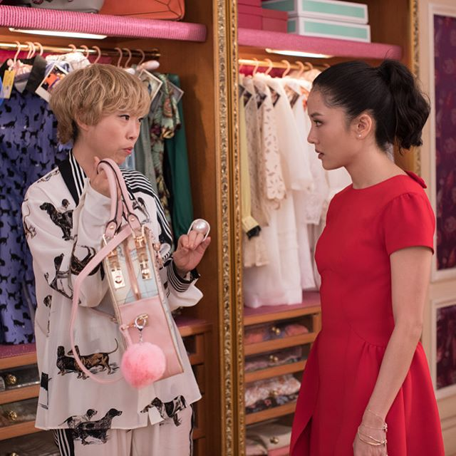 Constance [Wu] was sort of the grounded character, so she was more like Ralph Lauren, you know more American looks and not such bright colors,  costume designer Mary Vogt tells @loreleimarfil about creating the looks for the runway hit movie Crazy Rich Asians.  She was very involved in her look, absolutely, and she looks distinctly different from everyone else in the film. Kevin [Kwan] felt that she was very grounded, that she wore light colors, wore lots of linen when she went to Singapore. That she looked like an all-American girl, a little bit like a fish out of water going into this other world.  Swipe for more looks from the movie.   #wwdeye #crazyrichasians