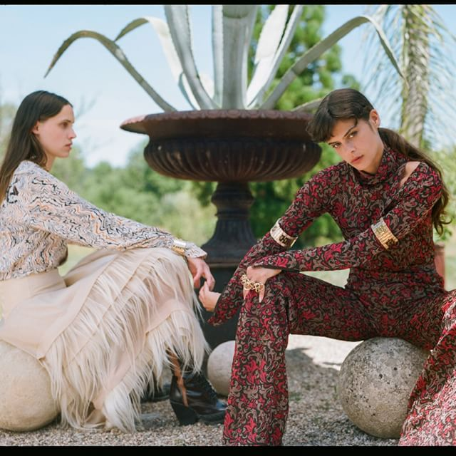 Photographed by @SoItGoesMag, @Leche_Smith and Georgia Hilmer @GeorgiaHilmer wear statement pieces from @NRamsayLevi s #FW18 collection  Pre-order now on chloe.com #chloeGIRLS Photography by  James Wright @JamieWright84 and @SoItGoesMag, styling by @Felicia_Gr, production by @Johnny_Pascucci at @PhotoBombProduction, hair by @SabrinaSzinay, make-up by @LauraStiassni