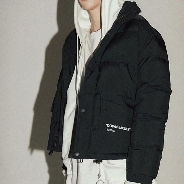 fw18 men s Off-White   Down Jacket  and full zip hoodie