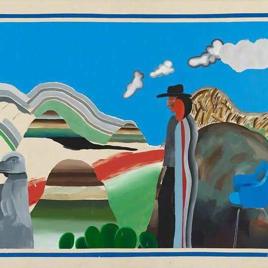 Finally got over my cold and started working out today    can t help but feeling very tired already... but in a good way, just like David Hockney s  Rocky Mountains and tired Indians