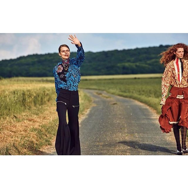 ON THE ROAD @nicolasghesquiere  @chloe shot by @craigmcdeanstudio and @marieameliesauve in @wmag THANK YOU   #LECHARMEDISCRETDELABOURGEOISIE