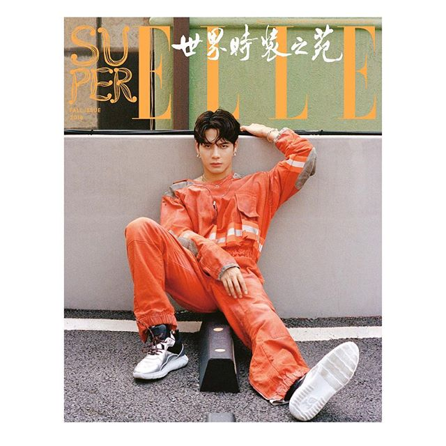112693954e24  calvinklein. Lean on me   jacksonwang852g7 wears the distressed fireman  jumpsuit from the  Fall2018