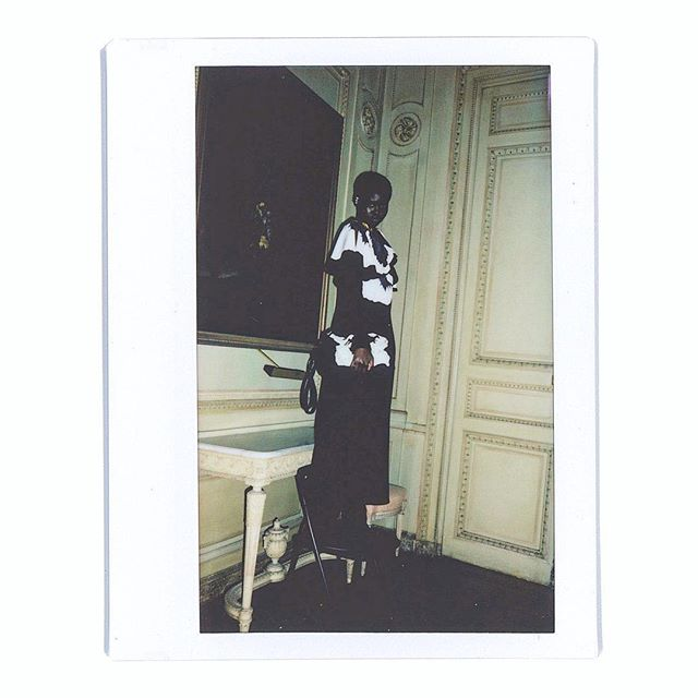 @adutakech snapped on polaroid in the luscious surroundings of Château de Voisins. The #ValentinoFW1819 collection by @pppiccioli is now available in our WW Boutiques and online. #LinkInBio