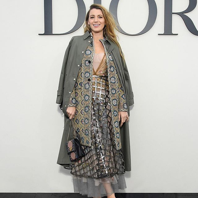 With fashion meeting dance on the runway, @BlakeLively represented the meeting between Hollywood and Dior when she arrived to discover the Spring-Summer 2019 collection by #MariaGraziaChiuri in a beautiful symphony of rich motifs and vaporous materials topped with in an infectious smile. #StarsinDior