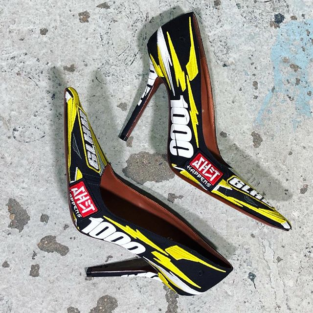 EMBROIDERED RACING HEELS www.matchesfashion.com @matchesfashion