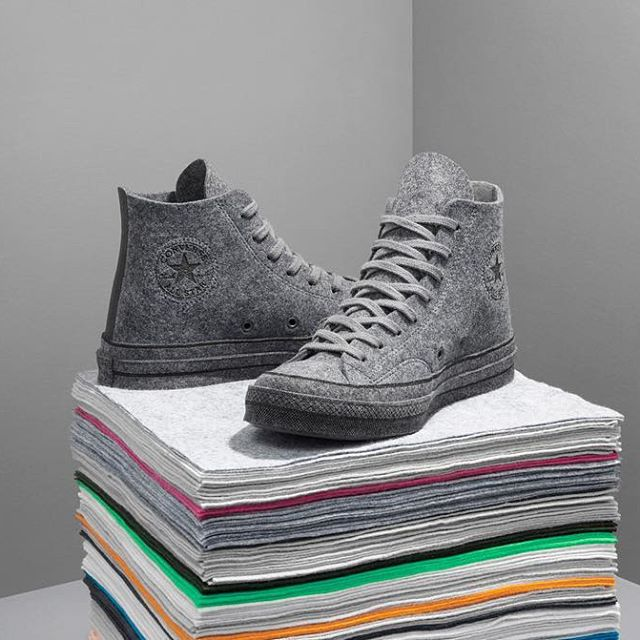 ONLINE EXCLUSIVE  GREY MELANGE FELT CHUCK TAYLOR CONVERSE AVAILABLE ONLINE NOW @CONVERSE #CONVERSEXJWANDERSON #CONVERSE #JWANDERSON PHOTOGRAPHY @relbw