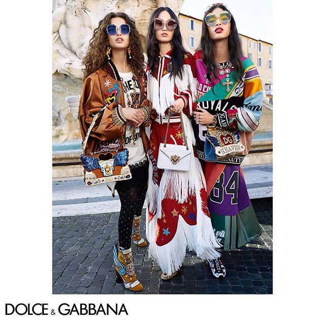 Wildly eccentric.  Picture taken in Rome by The Morelli Brothers for the Fall Winter 2018-19 Campaign. Link in bio. #DGRoma #DGCampaign #DGWomen #DGFW19 #DGFashionDevotion #DGEyewear @morellibrothers