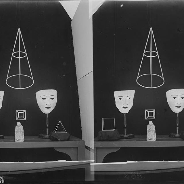 "Tap our insta story for another installment of #3DThursdays   Learn more about Joseph Jastrow   and ""Experiments in Visual Perception (Five Exhibition Prints)""     Photo courtesy California Museum of Photography, University of California, Riverside"