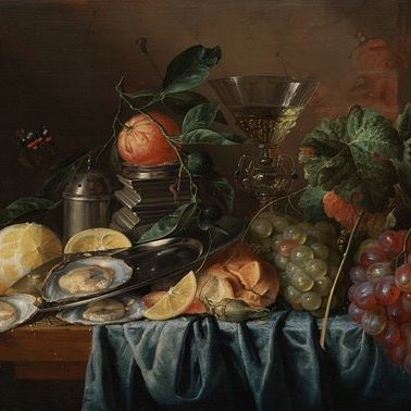 "Group #Halloween costume idea     Tag the friends that would be part of your still life. And visit  Still Life with Oysters and Grapes,"" Jan Davidsz de Heem, Holland, 1653 in the Ahmanson building, level 3"