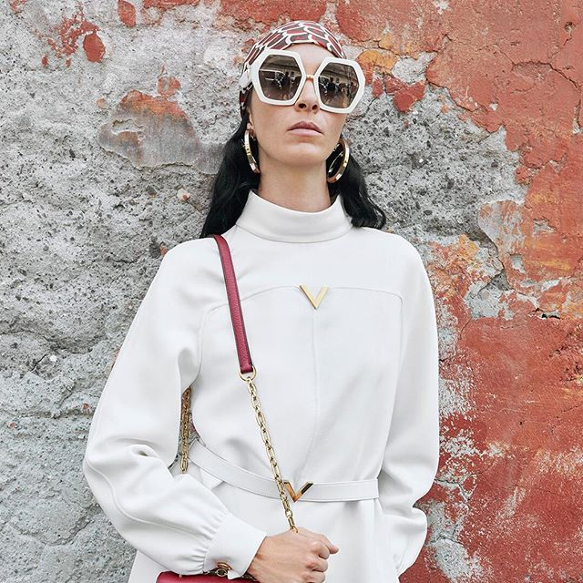 New #ValentinoResort19 campaign featuring Roman native #MariacarlaBoscono in an optic white look.  #BornInRoma. Creative Director: @pppiccioli Photographer: #JuergenTeller