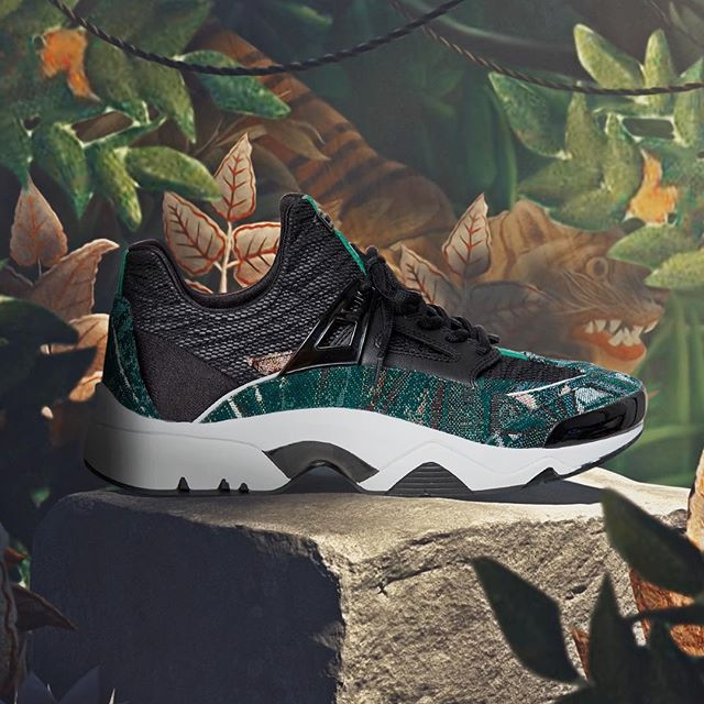 Grab your pair of Sonic and let it be your EVERYTHING. The vibrant,  Le Reve  inspired Sonic Sneaker is splashed with a jungle tapestry inspired by a mural painted by our founder, Kenzo Takada, in the firstever KENZO storefront. Realized by @traum.inc #KENZOEditorials  #collectionmemento3