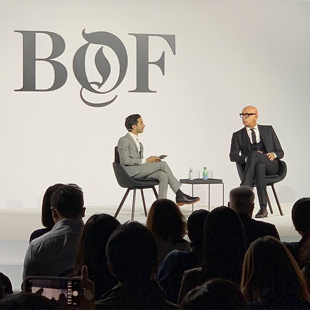 At today s #BoFChinaSummit in Shanghai, Gucci s president and chief executive Marco Bizzarri is the first speaker to take the stage, in a conversation with Imran Amed about  discovering hidden depths in the Chinese market . See our IG Stories for more. #gucci #fashion