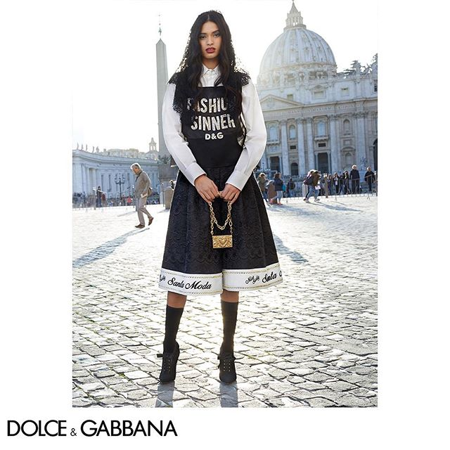 Fashion is sacred, but everyone is a sinner.  Shot by The Morelli Brothers for the FW18-19 Campaign. #DGRoma #DGCampaign #DGWomen #DGFW19 #DGFashionDevotion @morellibrothers