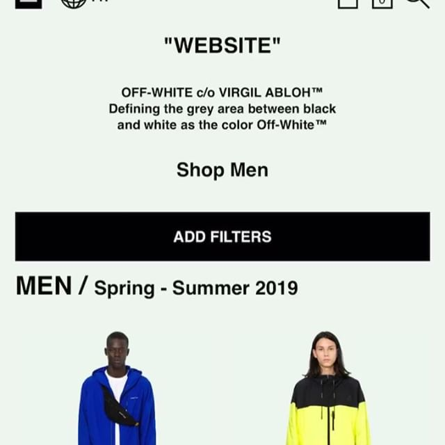 webstore **updated today. resort 19 women s & men s Off-White   Impressionism  collection initial delivery now live www.off- - -white.com   link in bio