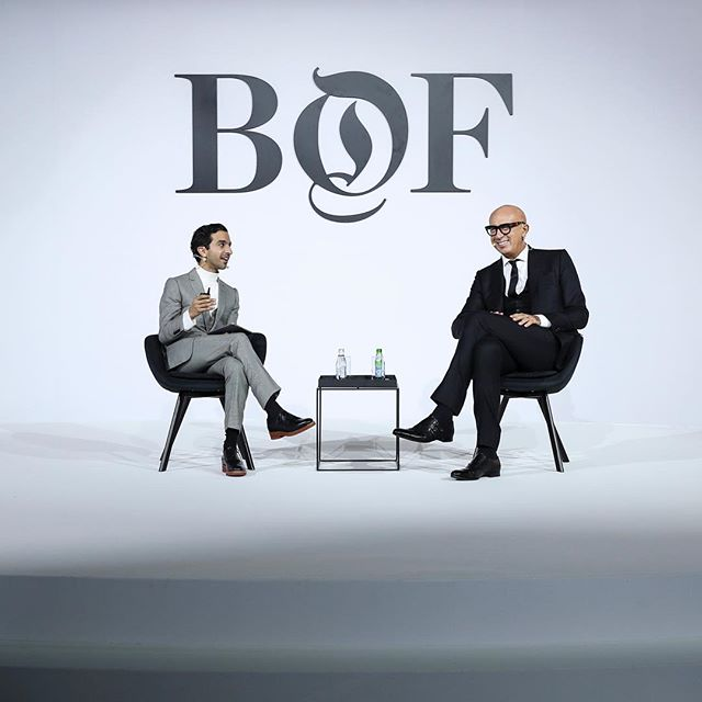 "At today's #BoFChinaSummit in Shanghai, a host of inspiring speakers took the stage. Gucci's president and chief executive Marco Bizzarri spoke with BoF's Imran Amed about ""discovering the hidden depths in the Chinese market."" Head over to our IG Stories for a peak behind the scenes. #gucci #fashion  : @gettyimages"