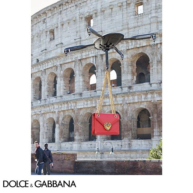 Showcasing the #DGDevotionBag with a little help from #DGDrone.  Shot in Rome by The Morelli Brothers. Link in bio.  #DGRoma #DGCampaign #DGWomen #DGFW19 #DGFashionDevotion @morellibrothers