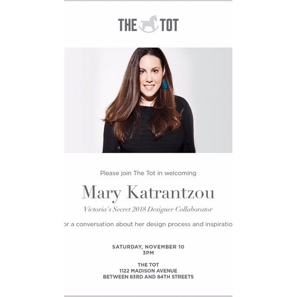 If you are in NYC, come and meet Mary        @marykatrantzou  1122 Madison at 83