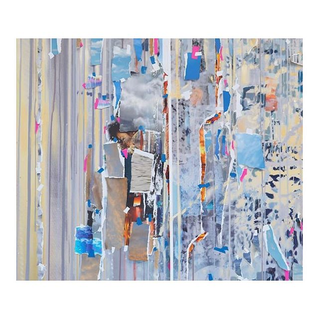"Currently on view at @Gagosian Rome: ""Sarah Sze.  In the paintings, her nuanced sculptural language adapts to the conditions of the flat support. In delicate yet bold layers of paint, ink, paper, prints, and objects, the three dimensions of bricolage are parsed into the two dimensions of collage. Fields of static, blots, and cosmic vortices emerge out of archival material drawn from the studio and its daily workings in endless visual permutations that collide and overlap in an abundance of surface detail. (1) Sarah Sze, ""Ghost Print (Half-life),"" 2018 (detail)   Sarah Sze (2) Sarah Sze, ""Ghost Print (Half-life),"" 2018   Sarah Sze #SarahSze #GaosianRome #Rome #KOArt #KOCulture #KarlaOtto"