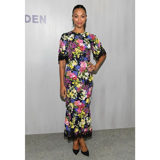 Zoe Saldana wearing Dolce&Gabbana at the Hammer Museum 16th Annual Gala on October 14th, 2018 in Los Angeles, California. #DGCelebs #DGWomen
