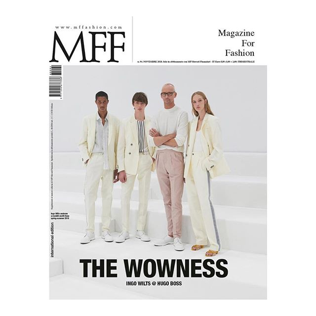 @Boss featured on the cover and cover story of @mffashion_com, issue 94. Designer #IngoWilts was interviewed by #StefanoRoncato. Photographed by @TommyTon.  #boss #mffashion #mffmagazineforfashion #thewowness #kofashion #karlaotto