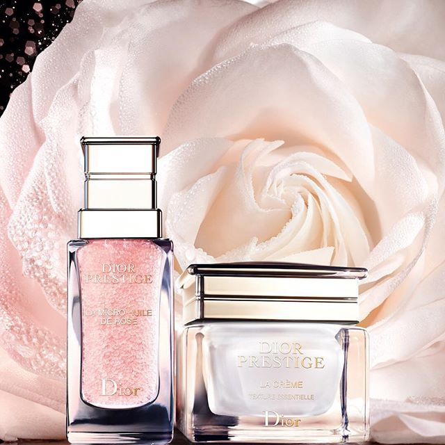 DIOR PRESTIGE creates the perfect combination for your #skin with La Micro-Huile de Rose to double La Crème's power. Now the new Le Micro-Sérum de Rose Yeux is the exceptional micro-nutritive complement to your energizing #skincare routine. @diorskincare #diorskincare