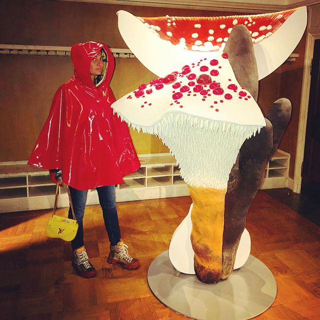 Red riding hood Went on a mushroom   hunting on a rainy day And found this Carsten one .. More is GlaMore  @cfhillofficial #carstenholler