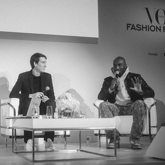 VOGUE PARIS FASHION FESTIVAL 2018   VIRGIL ABLOH & ALEXANDRE ARNAULT On November 9, @AlexandreArnault (CEO, @RIMOWA) and @VirgilAbloh (Men s Artistic Director, @LouisVuitton) were invited at the Vogue Paris Fashion Festival to give a keynote speech about how they are taking on the all-powerful millennials and street culture.   @virgile.guinard _ #VogueParisFashionFestival #RIMOWA #LouisVuitton #LVMH